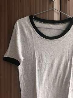 Black and Grey Ring Top