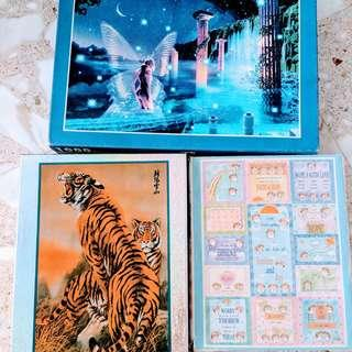 Set of 4 jigsaw puzzles