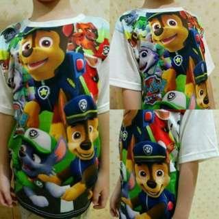 Kaos Tshirt Anak Import Thailand Karakter Paw Patrol