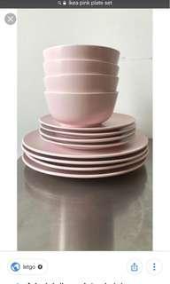 24 piece plate/ bowl set
