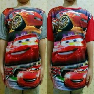 Kaos Tshirt Anak Import Thailand Karakter Cars 3
