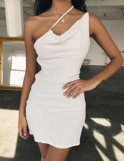 Thin Strap Dress - White