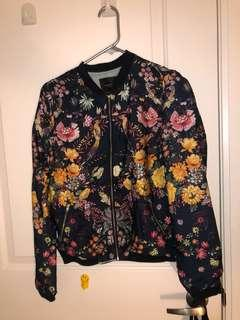Floral print bomber jacket from Zara