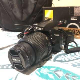NIKON D3200 with FREE camera bag and tripod