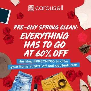 Pre-CNY Spring Clean: Everything Has To Go At 60% Off