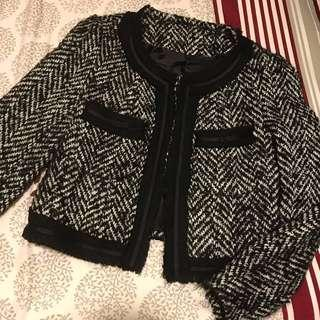 Tweed Jacket Korean/Japanese style Chanel-like 全羊毛外套
