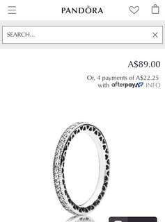 Pandora Signature Hearts Ring