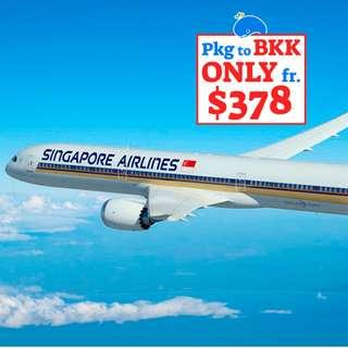 4D3N Singapore Airlines to Bangkok (Free and Easy)