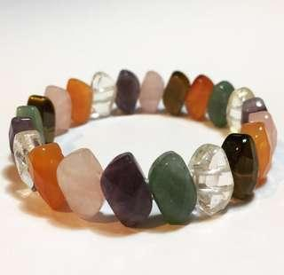 Natural Mixed Crystal S-Shapes Bracelet