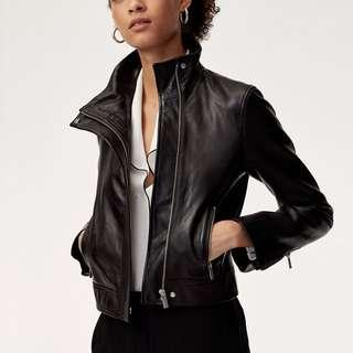 Aritzia Babaton Jagger Leather Jacket XS