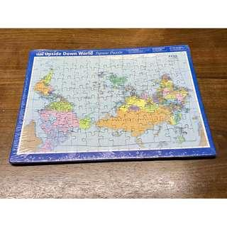 Upside Down Puzzle World Map