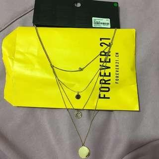 Forever 21 necklace 4層 頸鏈 褪色
