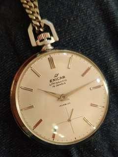 vintage pocket watch Enicar