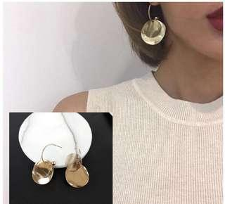 [NEW] Korean Round Circle Gold Plated Casual Workwear Earring Jewelry Accessories Women Earrings Gift