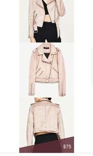 Zara Pink Suede Jacket ( small)