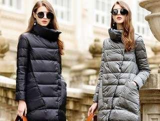 Black / Grey Reversible Down Jacket