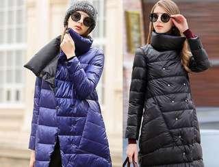 Blue / Black Reversible Down Jacket