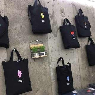 BT21 ECO BAG UNOFFICIAL BTS TOTE BAG BT21 X MONOPOLY