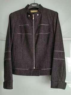 🚚 全新,法國HELENA SOREL短外套,鐵灰色,毛料63%/棉32%,挺版