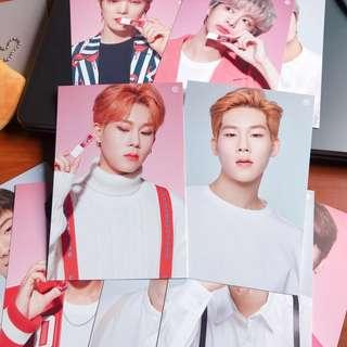 🚚 monsta x tony moly lip tint cream signed postcard jooheon