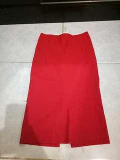 Reprice !!Rok bodycon red