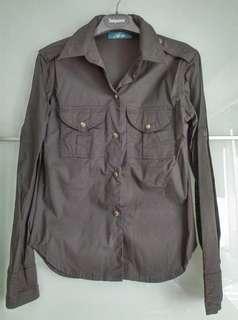 🚚 全新,法國An'ge襯衫,黑色,尺寸S,棉質96%/彈性4%