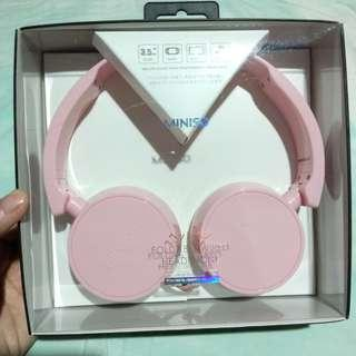 "MINISO HEADPHONE ""BABY PINK"""