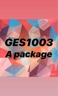 GES1003 A package Changing landscape of Singapore GEK2001 SAA2002