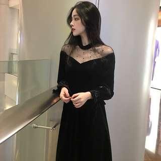🚚 🔥現貨供應🔥韓版 蕾絲拼接洋裝 喇叭袖洋裝 長洋裝 短洋裝