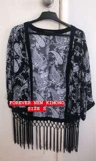 Gorgeous Black/White Floral Kimono Cardigan Top