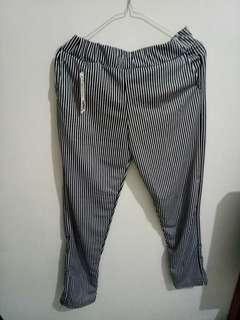 Reprice!!Celana panjang harem stripes