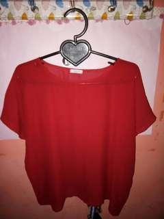 Baju tipis merah