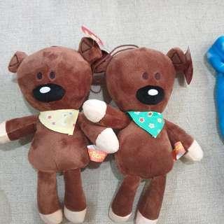 🚚 豆豆先生泰迪熊玩偶全新可換物