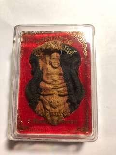 Thai Amulets Wat Suwankiri Jumbo Lp  Thuad(BE2561)with meat chanting Lp Pong ,Lp Keene n AC Klang Seng