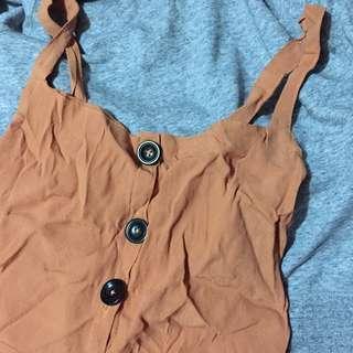 Rust Brown Buttondown Dress