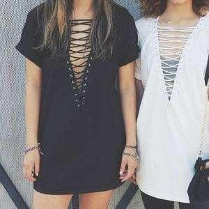 Lace up dress