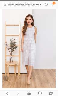 d9ea4b432fa Classified Chic Jumpsuit in Grids White