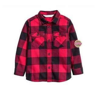New Original H&M Kemeja Lengan Panjang Bayi/Anak size 1.5-2years