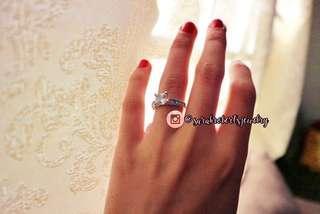 White Topaz April Birthstone Ring