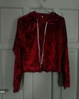 Sweater velvet crop