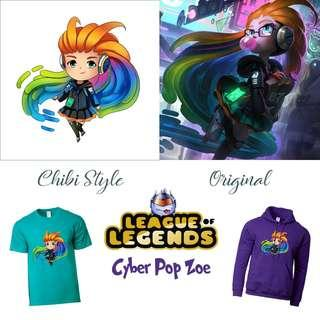 🚚 Cyber Pop Zoe Merch / League Of Legends Items, Shirts, Hoodie, Cups / Gifts for Him / Her / Friends
