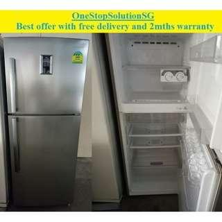 Samsung (335L) 2doors refrigerator / fridge ($300 + free delivery and 2mths warranty)