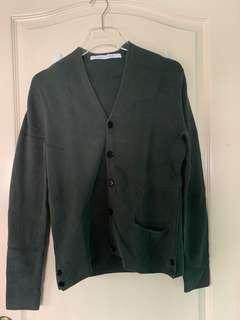 Uniqlo and Lemaire Green Cardigan