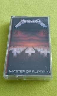 METALLICA  master of puppets. Cassette tape not vinyl record