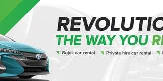 Rent with us Drive with GOJEK