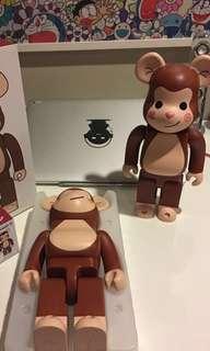 Bearbrick clot monkey 400%