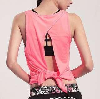 Yoga gym top in pink
