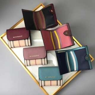 BURBERRY Luna French check wallet