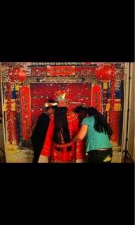 Chinese New Year Backdrop  and stand - rental