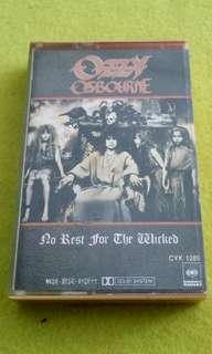 """OZZY OSBOURNE  no rest for the wicked (Lead vocalist of """"Black Sabbeth""""  cassette tape not vinyl record"""